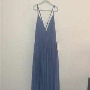 Formal Pleated Maxi Dress